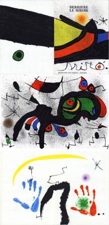 Illustriertes Buch Miró - MIRO. PEINTURES SUR PAPIER, DESSINS. DERRIÈRE LE MIROIR N°193-194. Novembre 1971.