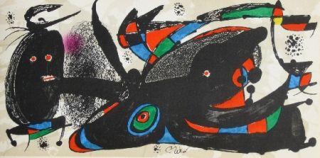 Lithographie Miró - Miro sculpteur, angleterre