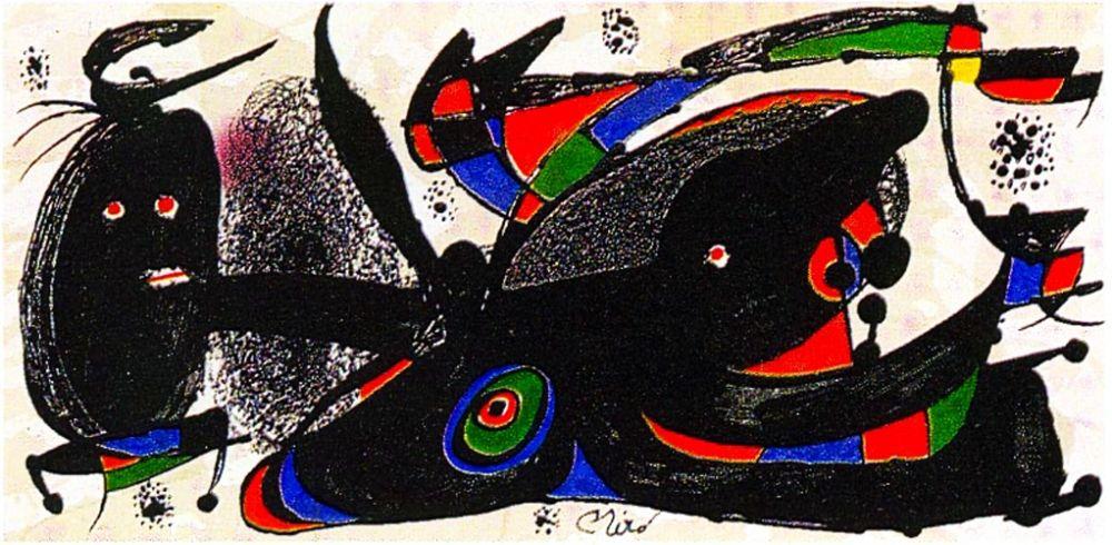 Lithographie Miró - Miro Sculptor - England
