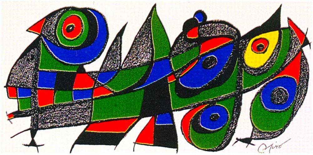 Lithographie Miró - Miro Sculptor - Japan
