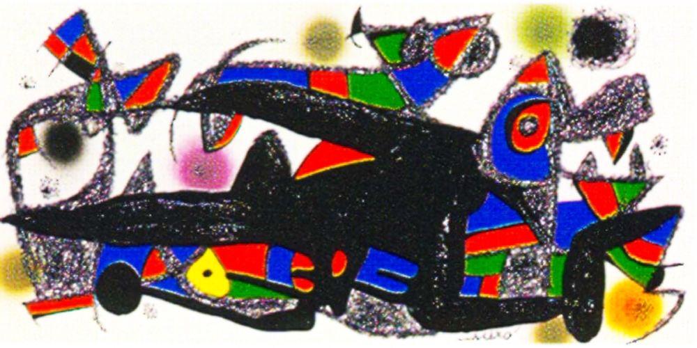 Lithographie Miró -  Miro Sculptor -Denmark