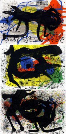 Illustriertes Buch Miró - MIRO. SOBRETEIXIMS ET SACS. Derrière le Miroir n° 203. Avril 1973.