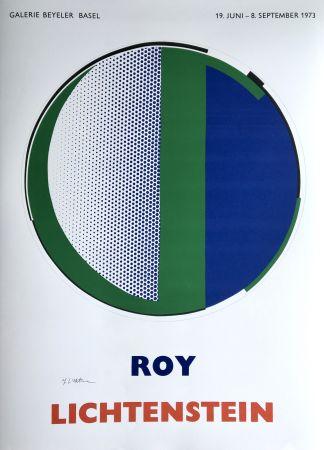 Siebdruck Lichtenstein - 'Mirror' Hand Signed Pop Art Poster Print 1973