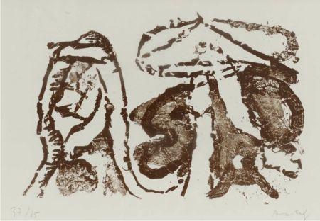 Lithographie Alechinsky - Moi qui dois vous poser des questions
