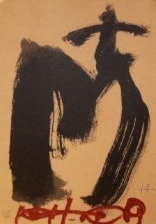 Lithographie Tapies - M.Ojos y cruz
