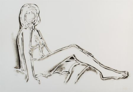Lithographie Wesselmann - Monica reclining towards right