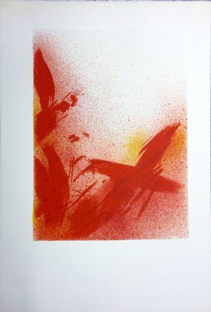 Lithographie Bazaine - MONOGRAPHIE EN ROUGE (1975) sur vélin d'Arches.