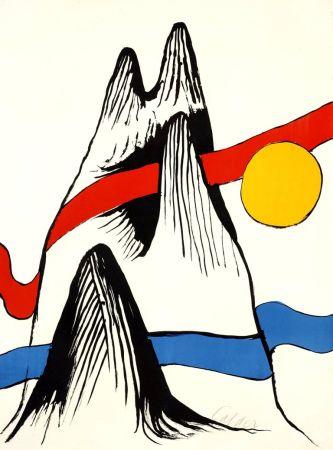 Lithographie Calder - Montagne et Soleil