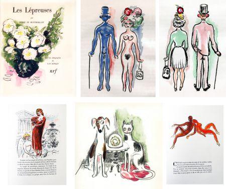 Illustriertes Buch Van Dongen - Montherlant. LES LÉPREUSES. 25 lithographies originales en couleurs (1947)