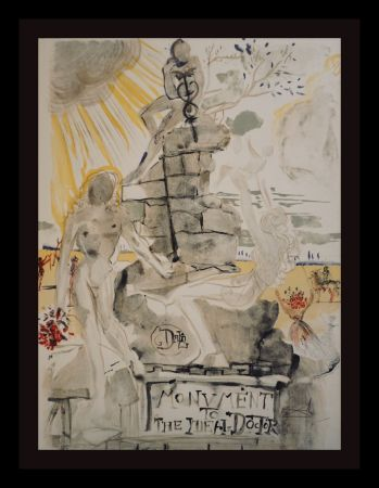 Lithographie Dali - Monument To The Ideal Doctor