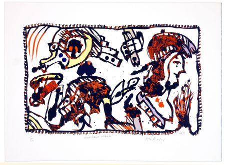 Lithographie Alechinsky - Morceaux Choisis