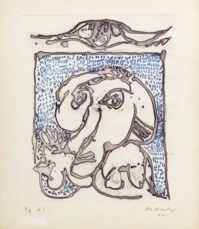 Aquatinta Alechinsky - Morsures VIII