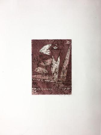 Radierung Und Aquatinta Ernst - MORT AUX VACHES ET AU CHAMP D'HONNEUR (1950).