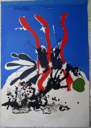Lithographie Rebeyrolle - Mort D'un Adversaire