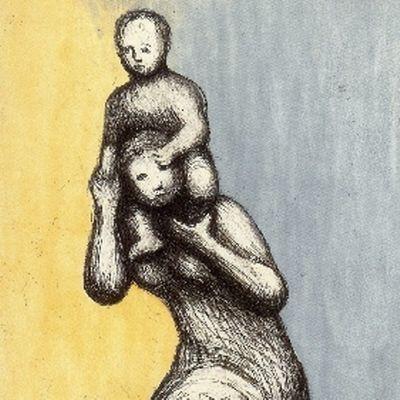 Radierung Und Aquatinta Moore - Mother & Child VIII