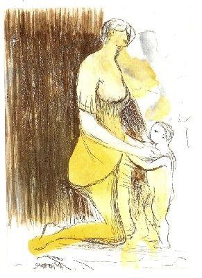 Stich Moore - MOTHER & CHILD XXVI,1983