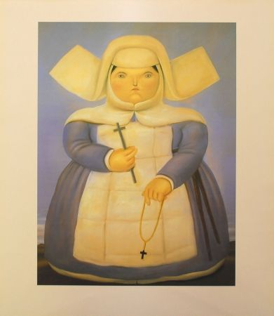 Lithographie Botero - Mother Oberin