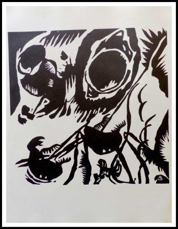 Holzschnitt Kandinsky - MOTIV AUS IMPROVISATION - Jardin de l'amour
