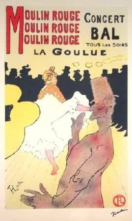 Lithographie Toulouse-Lautrec - Moulin rouge