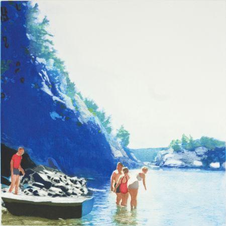 Aquatinta Greenfield-Sanders - Mountain Stream