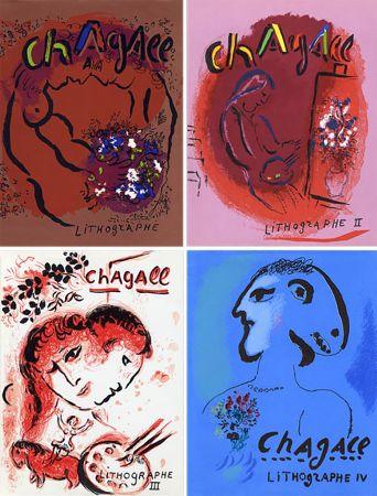 Illustriertes Buch Chagall - Mourlot & Sorlier : Chagall lithographe I à IV avec 28 lithographies originales.