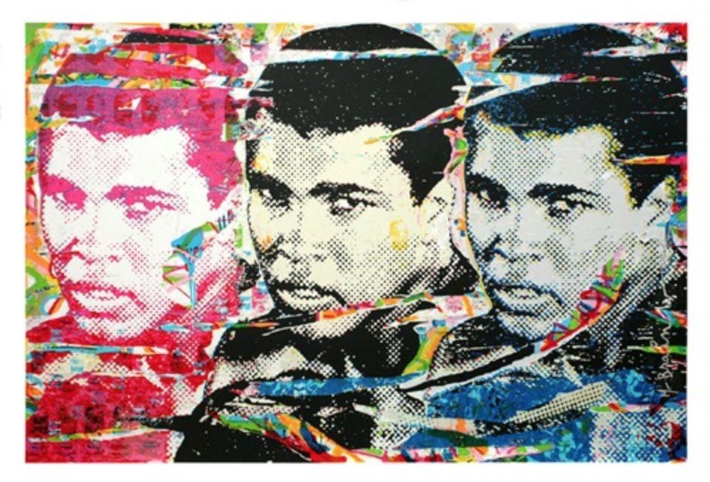 Siebdruck Mr. Brainwash - Muhammad Ali – The Champ