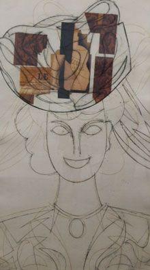 Radierung Valdés - Mujer con sombrero