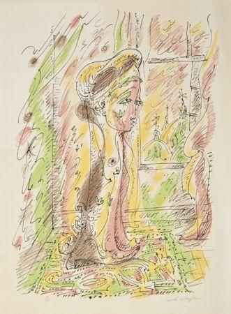 Lithographie Masson - Mujer junto a la ventana