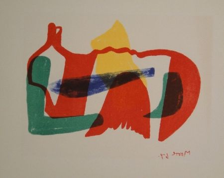 Lithographie Moore - Multicoloured Reclining Figure