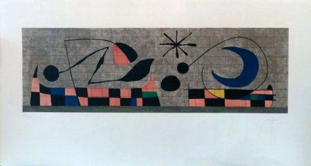 Lithographie Miró - Mur de la Lune