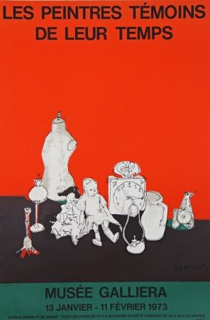 Lithographie Jansem - Musee Galiera