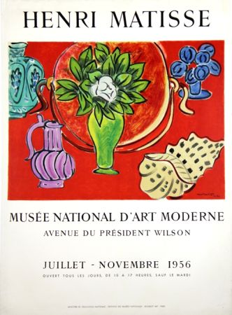 Lithographie Matisse - Musee Natianal D'art Moderne