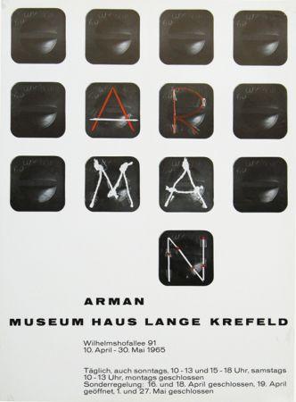 Plakat Arman - '' Museum Haus Lange ''  Krefeld