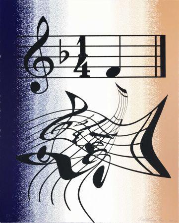 Lithographie Ruscha - Music