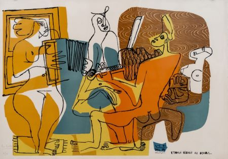 Lithographie Le Corbusier - Musiciennes (hand-signed & numbered)