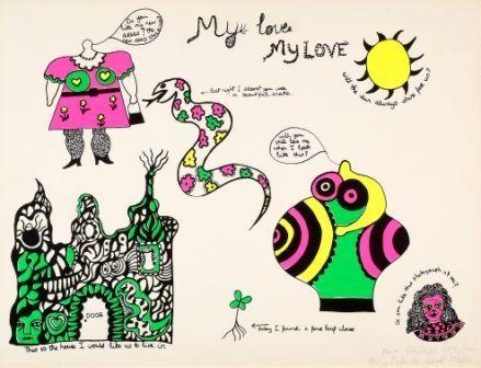 Siebdruck De Saint Phalle - My love,my love