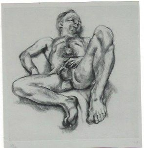 Stich Freud - Naked man on a bed