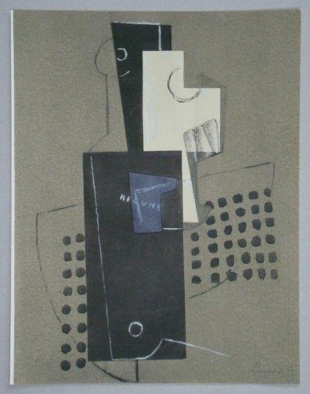 Pochoir Laurens - Nature morte - Papier collé, 1917