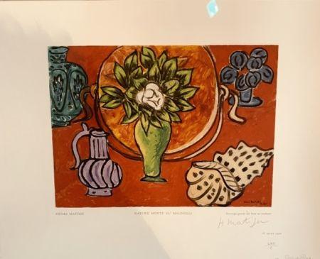 Holzschnitt Matisse - Nature morte au Magnolia