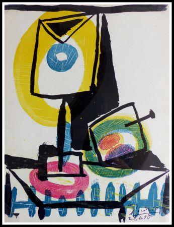 Lithographie Picasso (After) - NATURE MORTE AU VERRE