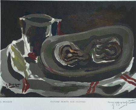 Holzschnitt Braque - Nature Morte aux Huitres