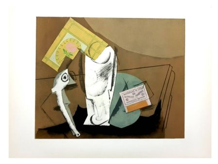 Lithographie Picasso (After) - Nature Morte Cubiste