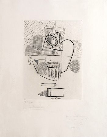 Stich Le Corbusier - Nature Morte (hand-signed, numbered, dedicated)