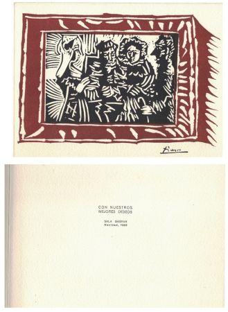 Linolschnitt Picasso - '' Navidad 1963 ''