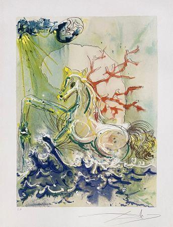 Lithographie Dali - Neptune