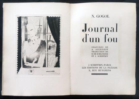Illustriertes Buch Alexeïeff - Nicolai Gogol : JOURNAL D'UN FOU (1927).
