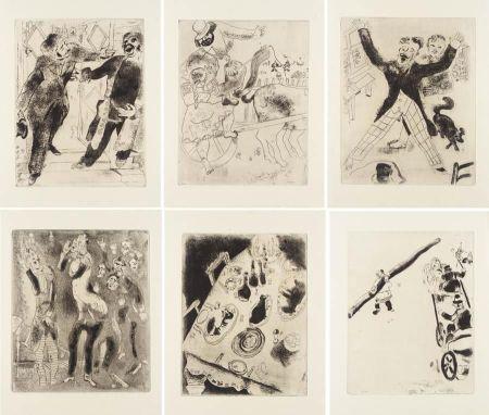Illustriertes Buch Chagall - Nicolas Gogol : LES ÂMES MORTES. Eaux-fortes originales de Marc Chagall