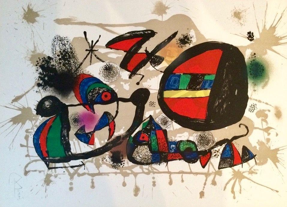 Lithographie Miró - Nid D'alouettes