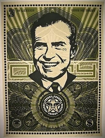Siebdruck Fairey - Nixon Money