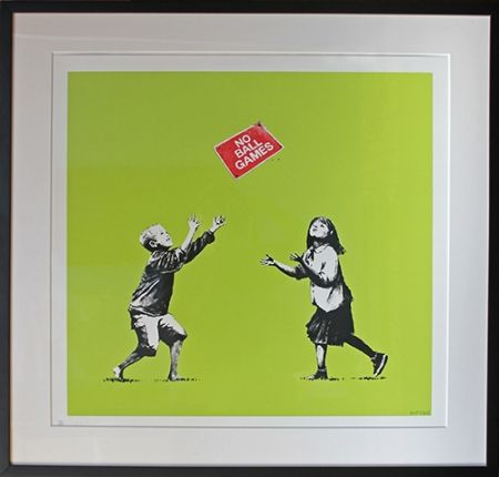 Siebdruck Banksy - No Ball Games (Green)